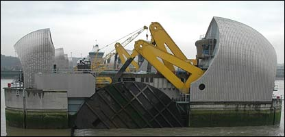 The Thames flood barrier