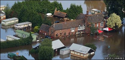 Floods at Tewkesbury