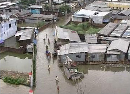 Several countries in southern Asia have been struck by floods. This one's in Bangladesh, where 5 million people have been affected. Some of them have lost everything.