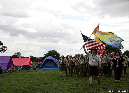 The Scouting Movement was set up in 1907, with the first camp held in Dorset. As you can see, it's still going strong!