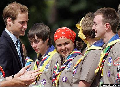 The 12-day event was opened by Prince William, who flew in by helicopter. He met lots of young people, who told him about the activities on offer.