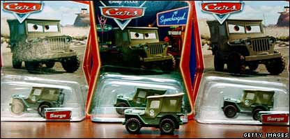 'Sarge' die-cast toy cars are among the toys being recalled