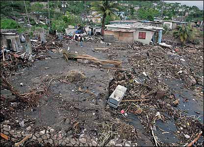 The aftermath of Hurricane Dean in Jamaica