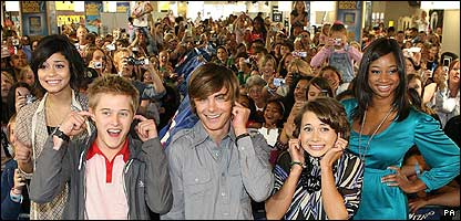 The stars of High School Musical face their noisy fans