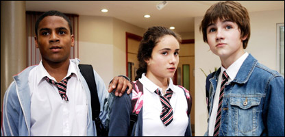 Clyde, Maria and Luke in The Sarah Jane Adventures