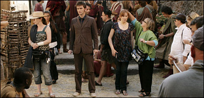 David Tenant and Catherine Tate on location in Rome