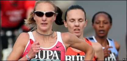 Paula Radcliffe in the race