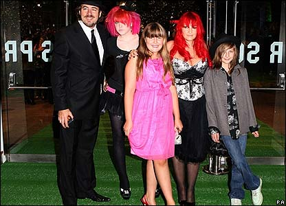 Jonathan Ross and his family