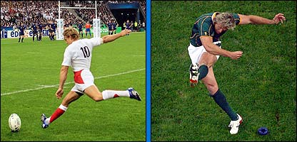 Jonny Wilkinson and Percy Montgomery
