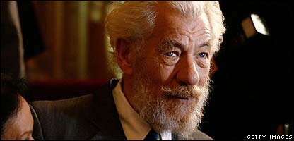 Sir Ian McKellen played Gandalf in  Lord of the Rings