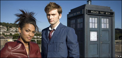 Dr Who stars Freema Agyeman and David Tennant