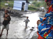 難民營中的剛果婦女