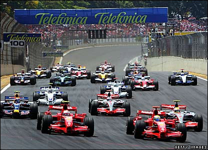 The start of the Brazilian Grand Prix