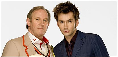 Doctor Whos Peter Davison and David Tennant