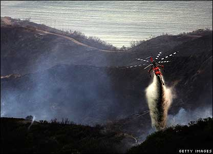 Firefighting helicopters in America