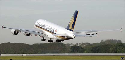 A Singapore Airlines Airbus A380