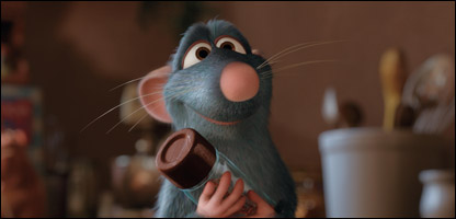 Remy the rat in Ratatouille