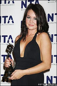 There was success for Lacey Turner - who plays the soap's Stacey Slater. She took the award for most popular actress.