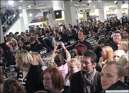 Fans at a Dr Who DVD signing