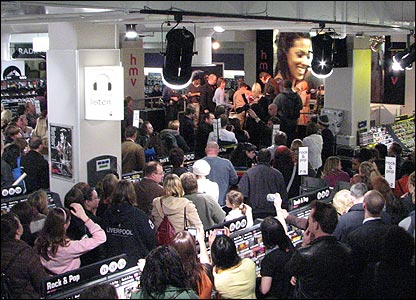 David Tennant and Freema Agyeman at a DVD signing