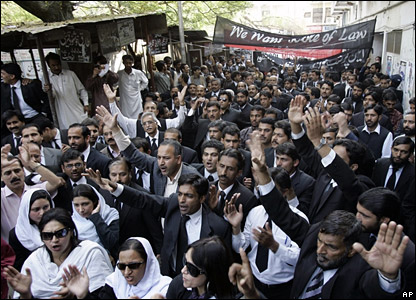 Protestors gather in Pakistan