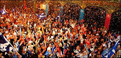 Celebrations in Glasgow
