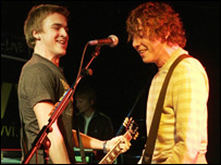 Danny Jones (right) and Tom Fletcher of McFly