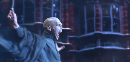 Voldemort, played by Ralph Fiennes