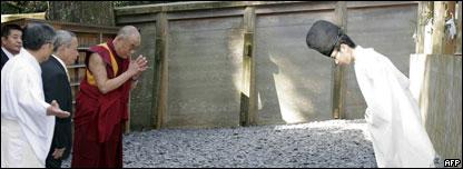 達賴喇嘛參拜日本神道教重要神社伊勢神宮