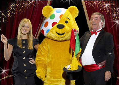 Fearne Cotton, Pudsey Bear and Terry Wogan