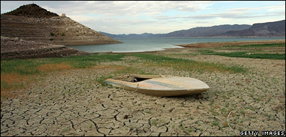 The Lake Mead National Recreation Area in Nevada is one of the areas that's been hit by the drought