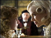 Dakota with Nicole Kidman in The Golden Compass