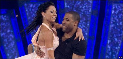 John Barnes in action with partner Nicole Cutler