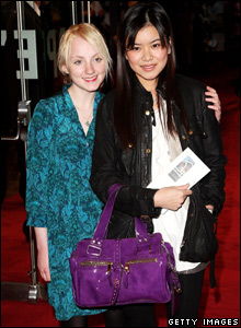 Harry Potter actresses Evanna Lynch and Katie Leung