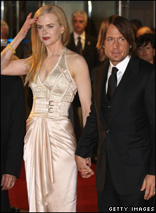 Nicole Kidman and her husband Australian singer Keith Urban