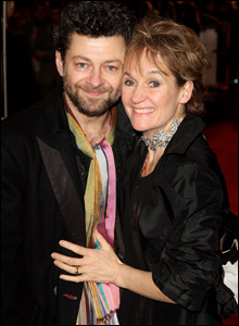 Actor Andy Serkis and his wife Lorraine