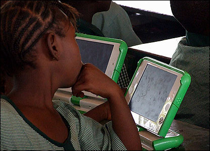 Lots of places don't have reliable electricity - but the laptops can run on batteries and even solar power.