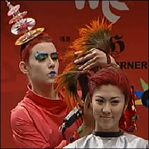 Time for a transformation. Using bright colours, lots of props and tonnes of hairspray, the stylists create some wild and wacky looks.