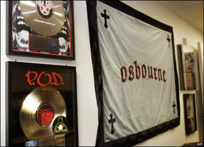 Gold records for Ozzy Osbourne's songs