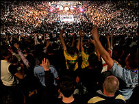 Fans at the MGM Grand Arena