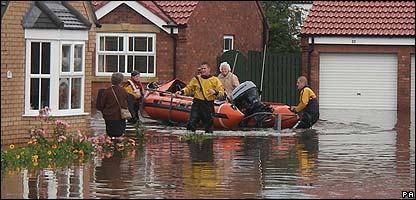Floods in Yorkshire in July