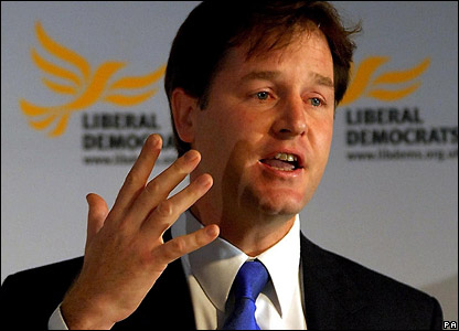 Liberal Democrat Party leader: NICK CLEGG