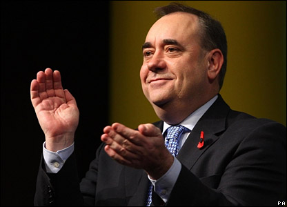 Scottish National Party (SNP) leader: ALEX SALMOND