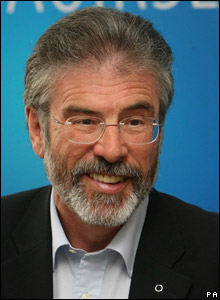 Sinn Fein leader: GERRY ADAMS