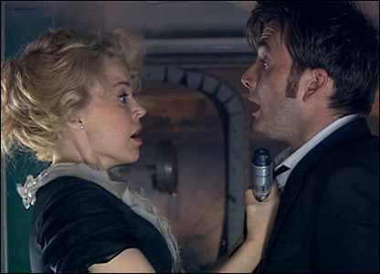 Kylie Minogue and David Tennant as Astrid and the Doctor