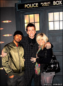 Noel Carter, David Tennant and Camille Coduri