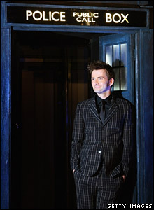 David Tennant in the tardis