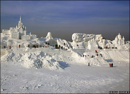 Snow sculpture