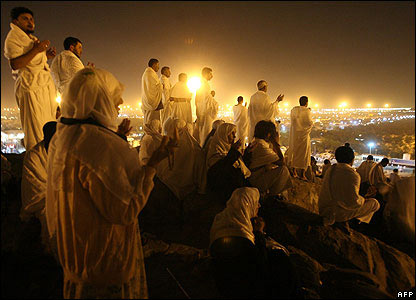 Muslims on Mount Arafat