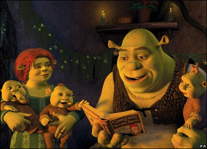 Shrek, Fiona and their baby ogres